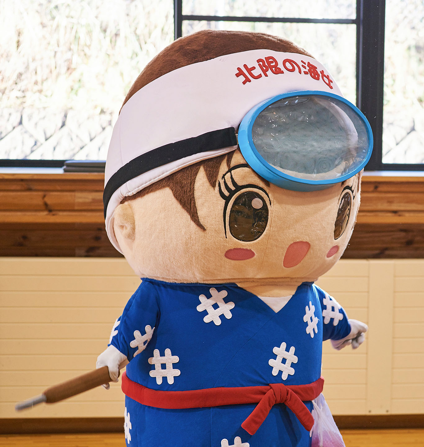 "Amarin, the ""yura-kyara,"" or mascot character, of Kuji City."