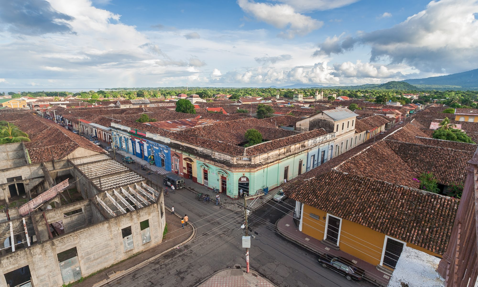 aerial view of crossroads in Nicaragua