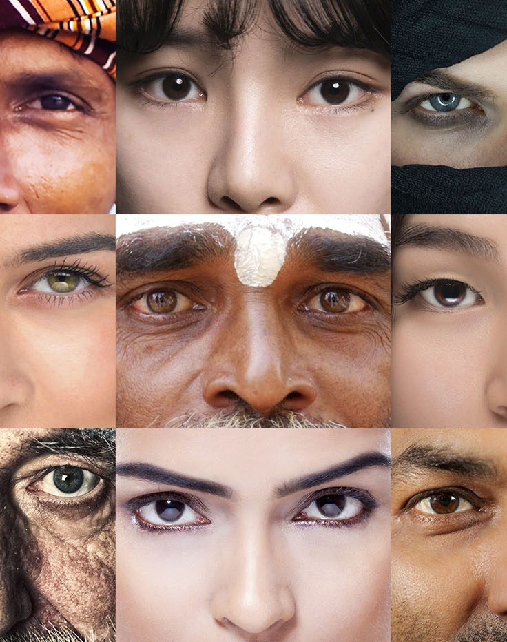 collage of faces of different ethnicities