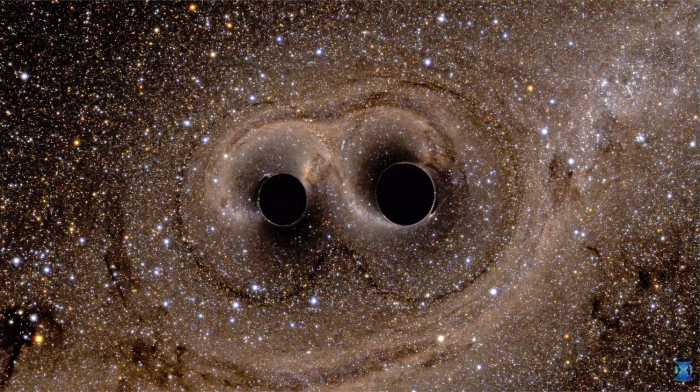 pair of two black holes