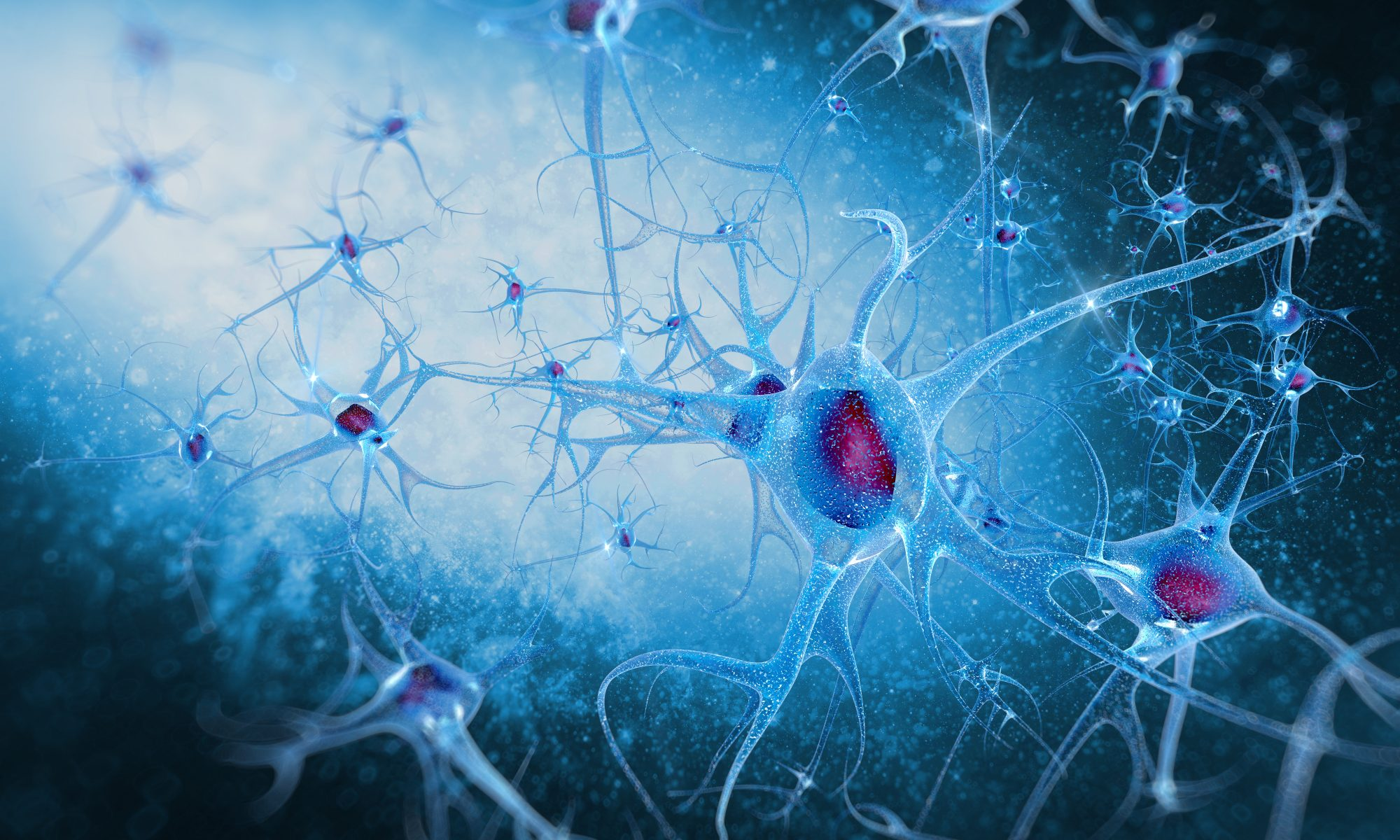 illustration of neurons interacting