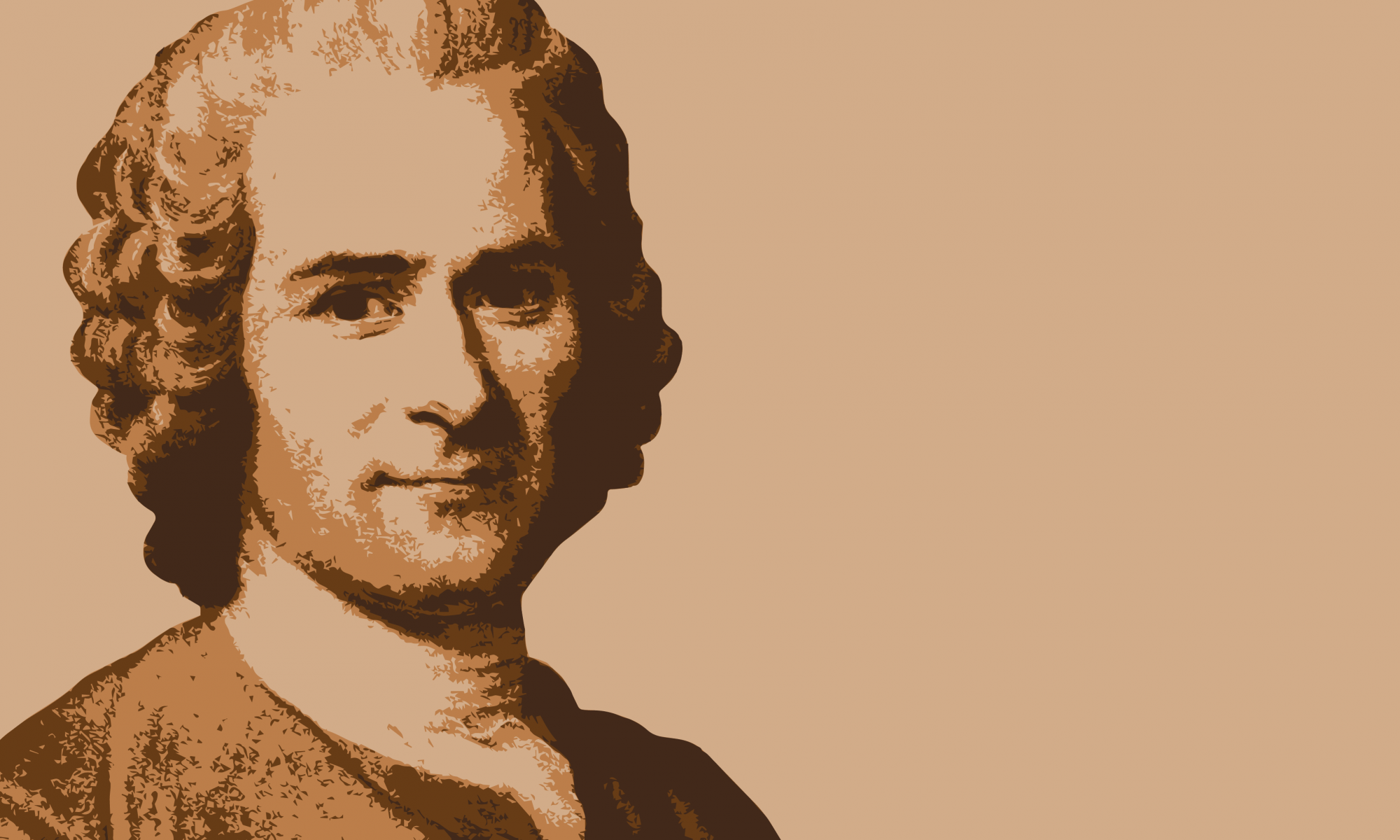 stylized painting of Jacques Rousseau