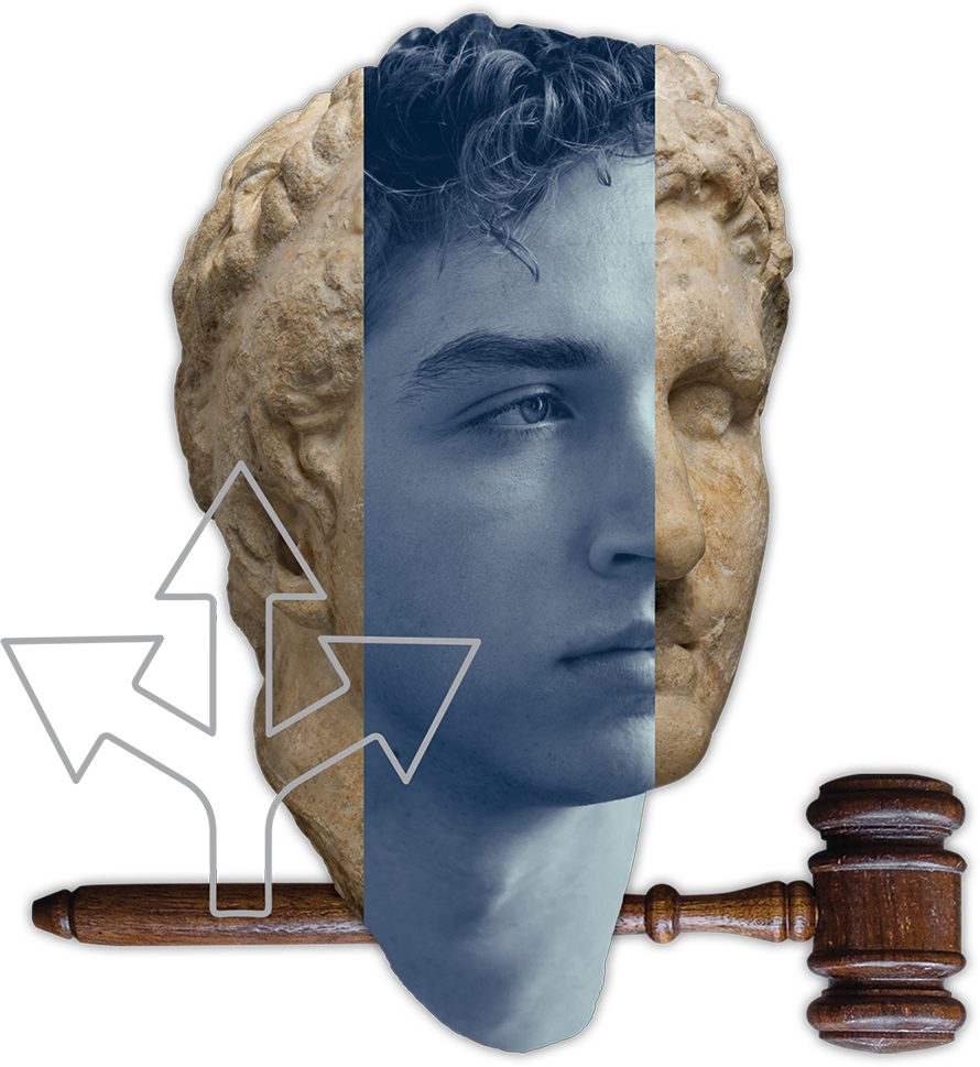 Head and gavel